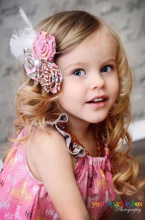 детские прически с заколками фото